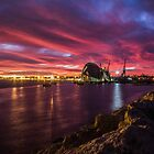 Fremantle - Red Dawn by Mark  Nangle