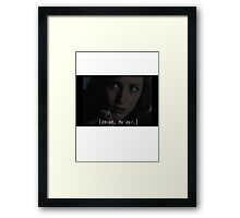 Agent/Dr. Dana Scully from X-files: bad news Mulder Framed Print