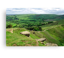 South from the Summit of Back Tor Canvas Print