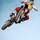 David bailey 1986 Motocross des Nations Canvas by robkinseyart