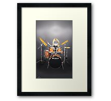 Corky's playing the Drums Framed Print