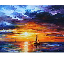 TOUCH OF HORIZON limited edition giclee of L.AFREMOV painting Photographic Print