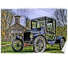 Lutz Franklin School & Model T Poster