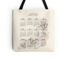 2015 Tan Butterfly Calendar Prints, Skins and Totes Tote Bag