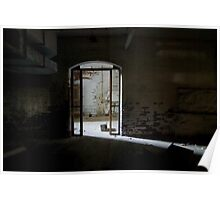 arched tunnel door Poster