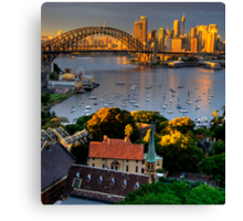 St Francis Pray For Us  - Moods of A City #14 -  The HDR Series, Sydney Australia Canvas Print