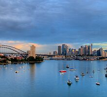 "Blues In The Night - Moods of A City # 19 ""UnCut""- The HDR Series, Berrys Bay Sydney Harbour by Philip Johnson"