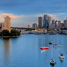 Blues In The Night - Moods of A City # 19 - The HDR Series, Berrys Bay Sydney Harbour by Philip Johnson