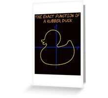 Harry Potter The exact function of  a rubber duck Greeting Card