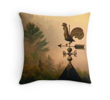 Rooster in the mist... Throw Pillow