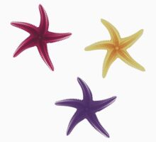 Purple, violet and yellow starfishes Kids Clothes