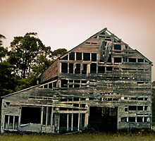 Old barn, somewhere in the backwoods of  NSW by Roz McQuillan