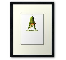Kermit laying down the truth. Framed Print