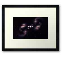 Abstract star Framed Print