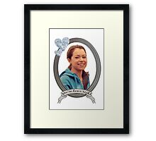 Beth Childs Transparent - Orphan Black Framed Print