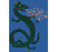 Flower-breathing Dragon Photographic Print