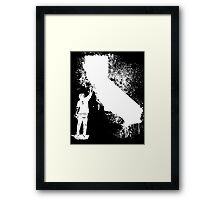 California Wall tagger white Framed Print