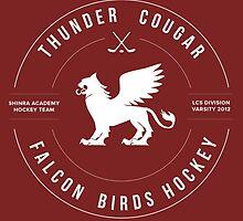 Thunder Cougar Falcon Birds Hockey by spacesmuggler