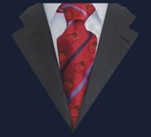 Suit with red tie by philbotic
