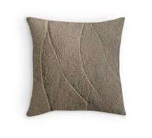 Tidal Patterns in Sand Throw Pillow