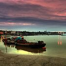 Medway at dusk by larry flewers