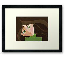 Green eyes portrait Framed Print