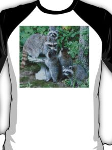 Raccoon Mom with 4 Kits T-Shirt