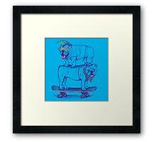 Double Dog Dare Framed Print