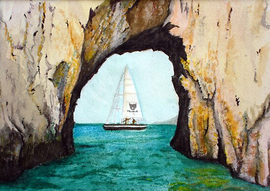 Capri sailing by Carole Russell