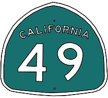 Hand Drawn California 49 Sign by itsrturn