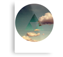 Triforce Clouds Metal Print
