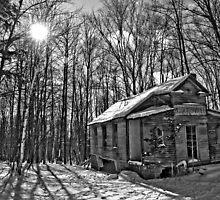 chapel in the woods by Erik Lewandowski