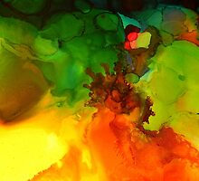 Colorful abstract, liquid dripping colors by lldd11