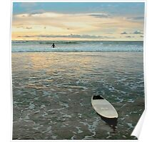 Playa Tamarindo Surf and Sunset Poster