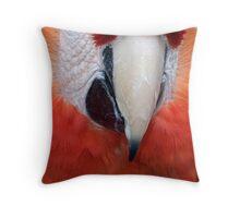 Scarlet Macaw Parrot, Ara macao Throw Pillow
