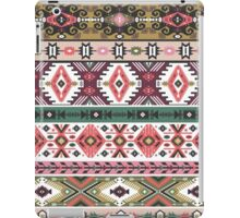 Navajo seamless colorful  tribal pattern with elementes quotes on labels iPad Case/Skin