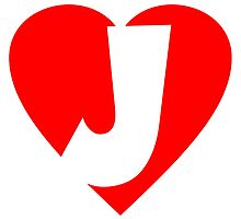 I love J - Heart J - Heart with letter J by theshirtshops