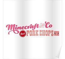 Minecraft Pork Chops Poster