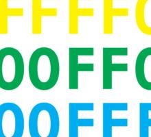 Rainbow HTML color codes Sticker