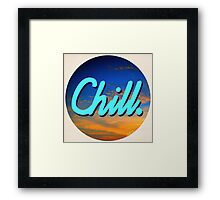 Chill Circle 1 Framed Print