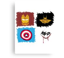 Marvel vs. DC, bro! Canvas Print