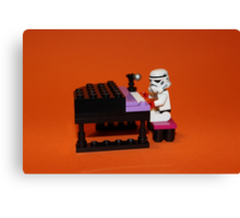 Stormtrooper plays piano Canvas Print