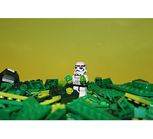 Green Stormtrooper Photographic Print