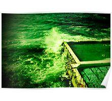 ocean swimmers bondi Poster