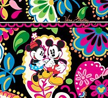 Vera Bradley Mickey Minnie iPhone case by Emily2015