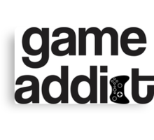 game addict Canvas Print