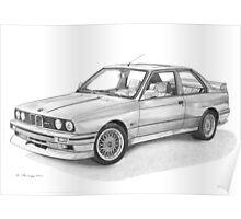 BMW M3 (E30) Poster