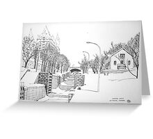 Winter Locks, Ottawa 1971 Greeting Card
