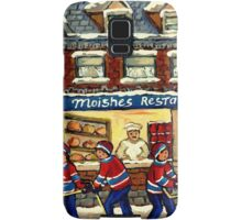 MOISHE'S RESTAURANT MONTREAL AND HOCKEY GAME PAINTINGS Samsung Galaxy Case/Skin