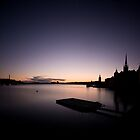 Stockholm Sunset Silhuette by CalleHoglund